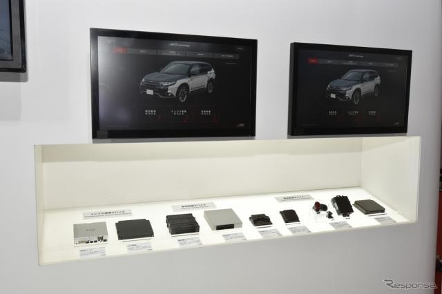 【東京モーターショー2017】電動化・コネクテッド・自動運転に必要な技術が揃う、三菱電機ブース《PHOTO 平原克彦》