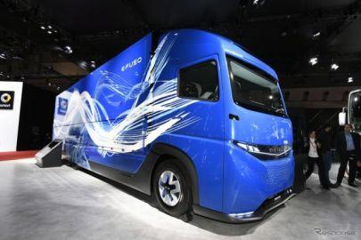 """【東京モーターショー2017】三菱ふそう E-FUSO """"Vision ONE""""……大型EVトラック実現の未来を示す[詳細画像]"""