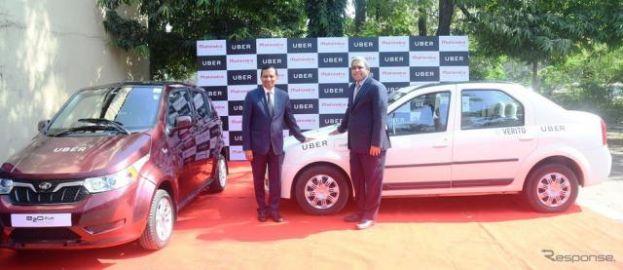 ウーバーとマヒンドラ、インドでのEV事業で戦略的提携…EVでライドシェア