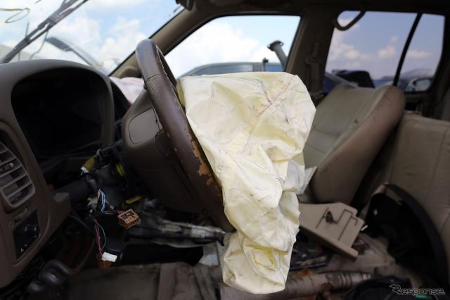 タカタのエアバッグ(日産車) (c) Getty Images