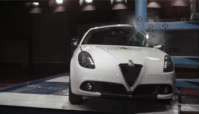 アルファロメオ ジュリエッタのユーロNCAP衝突テスト