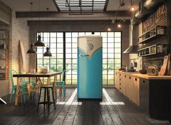 VW タイプIIデザインの冷蔵庫、台数限定で予約開始…二子玉川 蔦屋家電