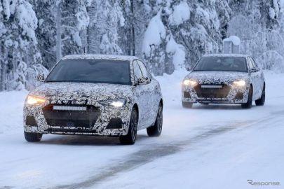アウディ A1 次期型、1年振りの寒冷地テストを目撃…「S1」は250馬力超えか