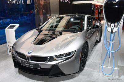 BMW i8クーペ 改良新型、最新コネクト採用…デトロイトモーターショー2018で発表