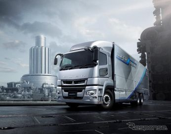 三菱ふそう スーパーグレート、高速道路でのトラック隊列走行実証実験に参加