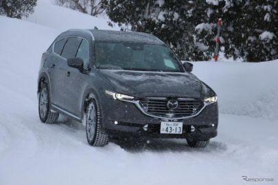 【マツダ CX-3・CX-8 雪上試乗】i-ACTIV AWDの威力で雪道の操縦性も抜群…齋藤聡
