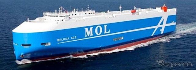 6800台を輸送できる次世代自動車船が竣工 商船三井