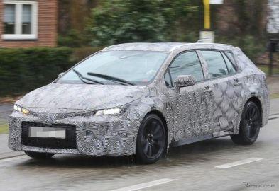 日本導入は!? トヨタ オーリス 新型「ツーリングスポーツ」、ドイツでスクープ