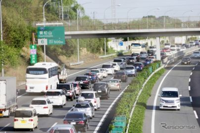 ゴールデンウィーク期間中の高速道路の渋滞予測、10km以上が46回増の401回