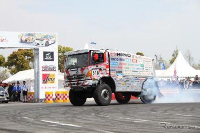 ダカールラリー参戦の日野レンジャー、デモ走行や乗車体験を予定…モータースポーツジャパン2018