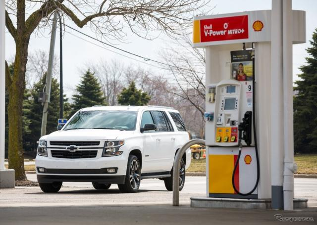 GMとシェルによる、車載モニターでガソリン代の決済が行えるシステム