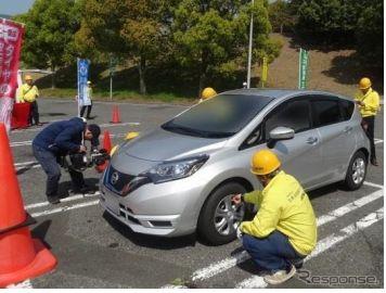 全国でタイヤ点検を実施---不良率は21.2%、8割が空気圧不足