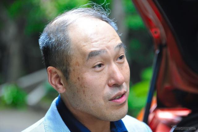 ジェイド開発責任者 四輪R&Dセンターの赤坂浩裕主任研究員《撮影 中島みなみ》