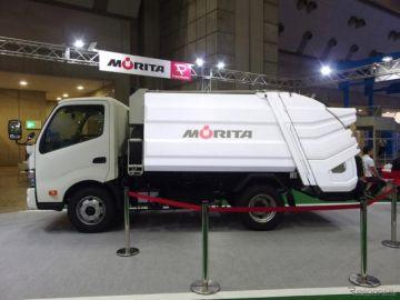 ゴミ収集車を近くで見た…NEW環境展2018[詳細写真]