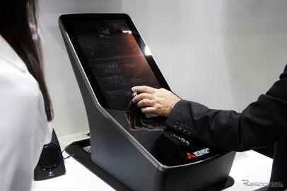 回す+ズラすだけ、三菱電機の近未来センターコンソール…人とくるまのテクノロジー2018