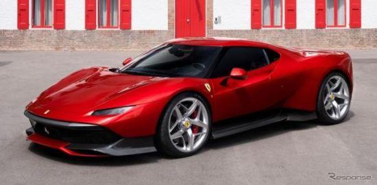 フェラーリがワンオフ『SP38』を発表…F40 のモチーフ採用
