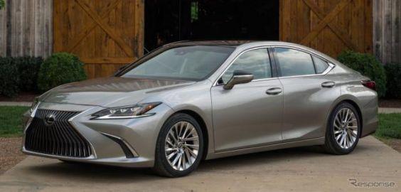 レクサス ES 新型、ハイブリッドの燃費は10%向上…今秋米国発売へ