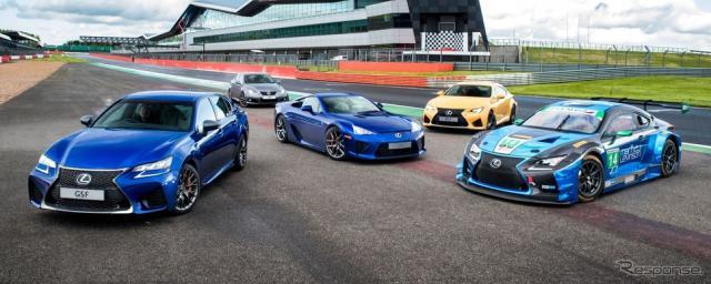 歴代レクサス「F」車とレーシングカーのRC F GT3