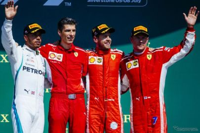 【F1 イギリスGP】大混戦のレースを制したのは、残り5周でトップに立ったベッテル[写真追加]