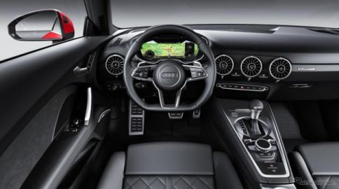アウディ TT 改良新型、最新「バーチャルコクピット」に情報をデジタル表示