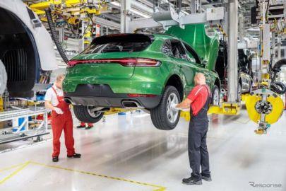 ポルシェ マカン 改良新型、量産第一号車がラインオフ