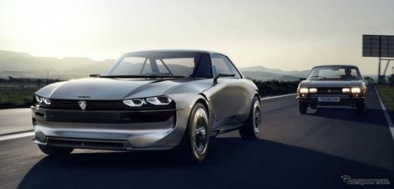 プジョーが自動運転のEVクーペ提案、504クーペ がモチーフ…パリモーターショー2018で発表へ