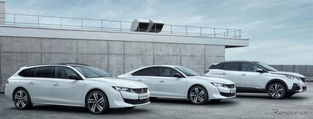 プジョー 3008 と 508 新型にPHV、300hpの4WD仕様も設定