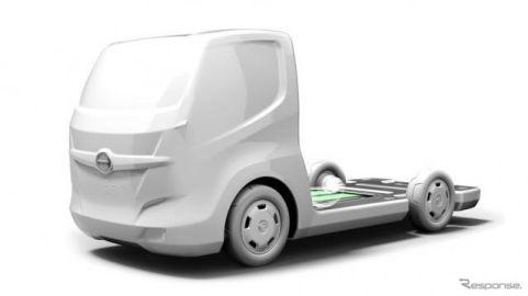 日野、小型EV商用車プラットフォームの原寸モデルなどを出展予定…EVS31