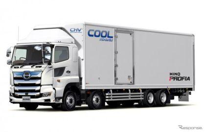 日野自動車、大型電動冷凍車を来夏発売 新世代ハイブリッドシステムを活用