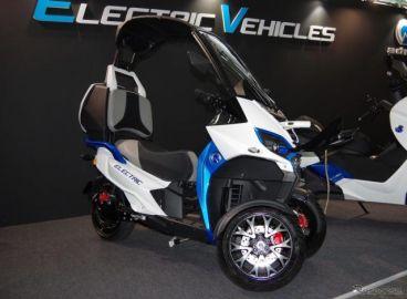 フロント2輪の3輪バイク「AD1」がEV化、発売へ…2019年は「電動バイク元年」となるか