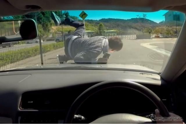 愛知県警察に導入された交通安全教育用シミュレータで見ることができるVR映像例《画像 凸版印刷》