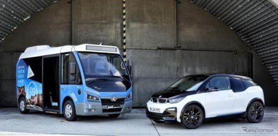 BMWグループ、i3 の電動パワートレインを小型EVバスに供給…航続210km