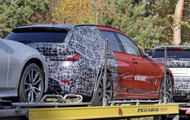 BMW 3シリーズツーリング 次期型プロトタイプを激写。「伝統のあれ」がないようにも見えるが…?《APOLLO NEWS SERVICE》