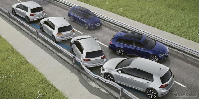 VW ゴルフ TSI テックエディション VW ゴルフ ヴァリアント TSI テックエディション ポストコリジョンブレーキシステム装着車