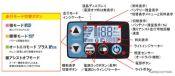 時刻やバッテリー残量などを表示する多機能メーター「液晶5ファンクションメーター」