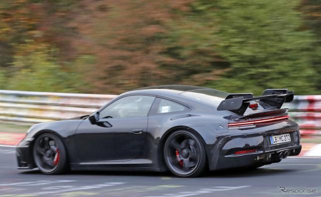 ポルシェ 911 GT3 スクープ写真《APOLLO NEWS SERVICE》