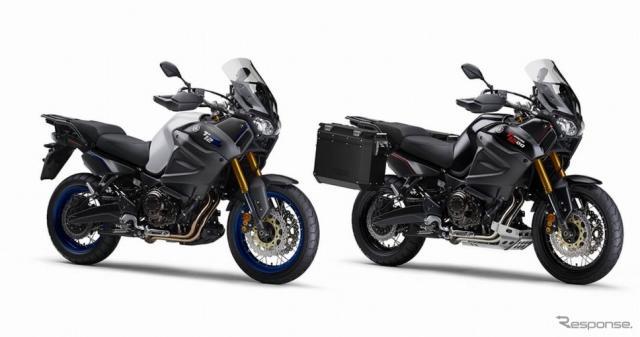 ヤマハ XT1200ZE スーパーテネレ(左)と同パニアケースパッケージ(右)