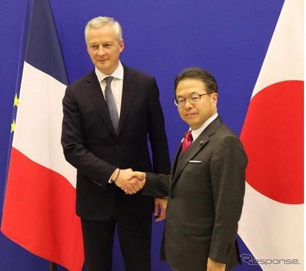 世耕経済産業大臣とフランスのル・メール経済財務大臣がルノー・日産アライアンスに関して意見交換