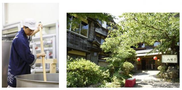 飯沼本家イメージ(左)、八鶴亭外観イメージ