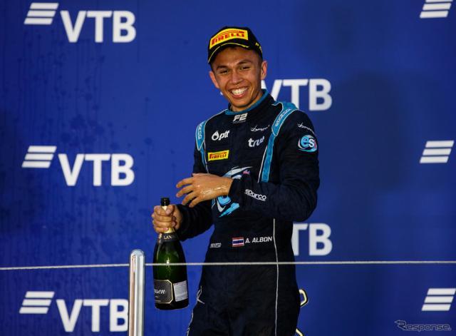 A.アルボン(2018年F2参戦時)《写真提供 FIA-F2》