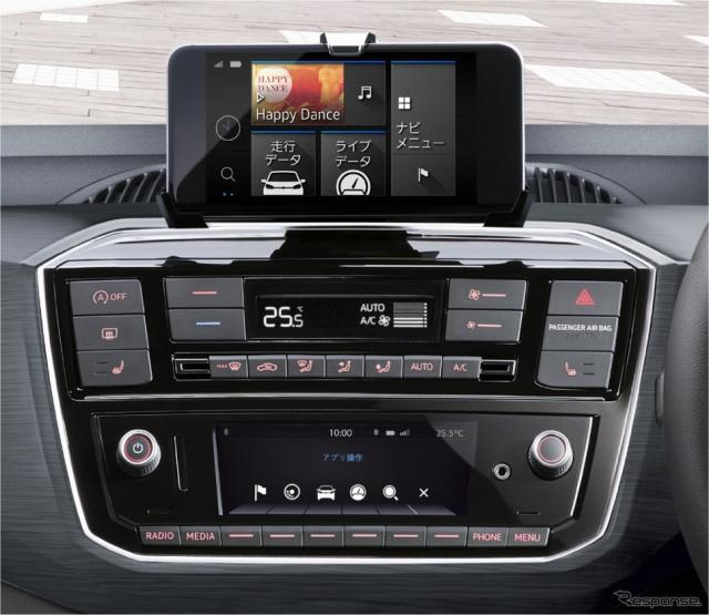 "VW cross up! Volkswagen純正インフォテイメントシステム""Composition Phone"""