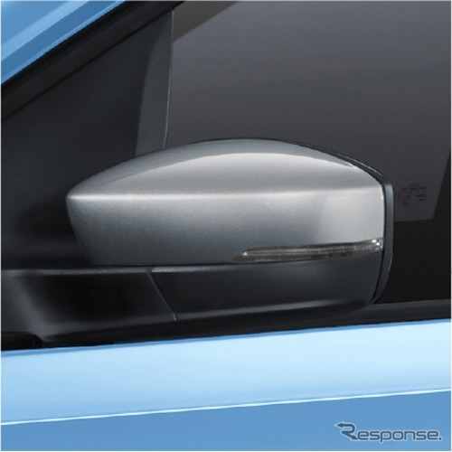VW cross up! 専用シルバードアミラー