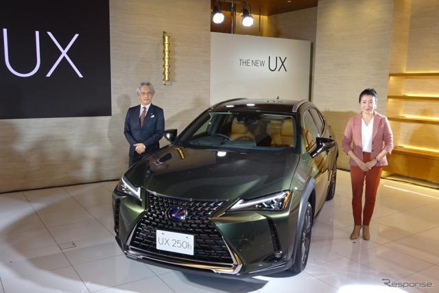 レクサスインターナショナルの澤良宏プレジデント(左)とUX開発責任者の加古慈チーフエンジニア《撮影 池原照雄》