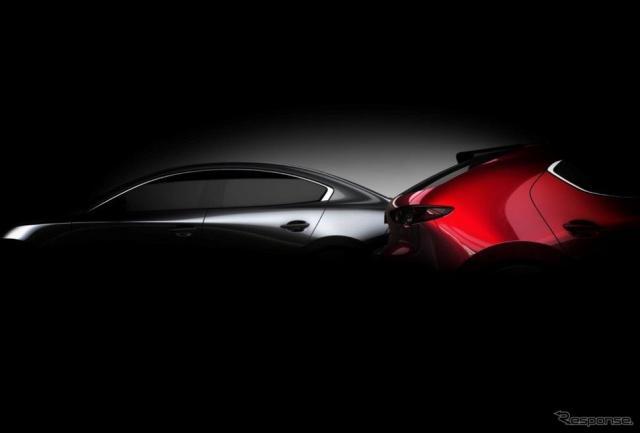 Mazda 3 新型ティザーイメージ《マツダ提供》