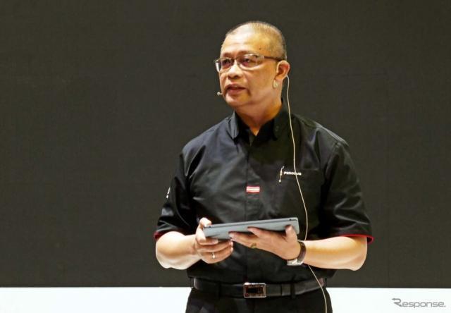 プロドゥアの代表Datuk Aminar氏《撮影 会田肇》