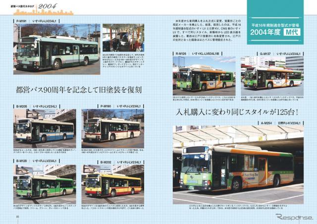 講談社「永久保存版 都営バス 全形式アルバム」から。永久保存版「都営バス歴代カタログ」