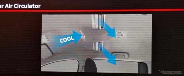 マレーシアの暑さにも対応できるようルーフにエアコンを装備した《撮影 会田肇》