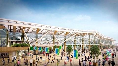 高輪ゲートウェイ駅:街区側外観イメージ図