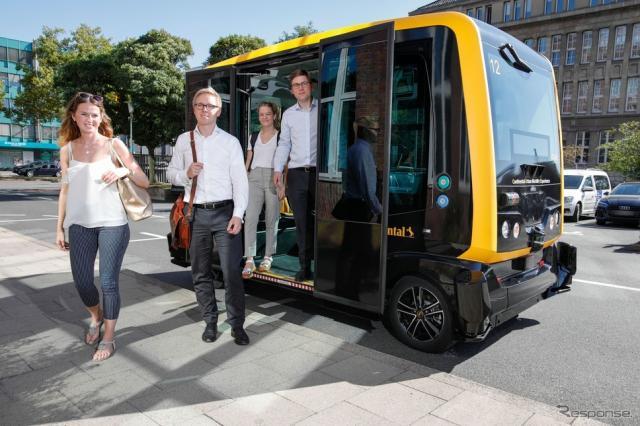 コンチネンタルの自動運転タクシープロトタイプ、CUbE