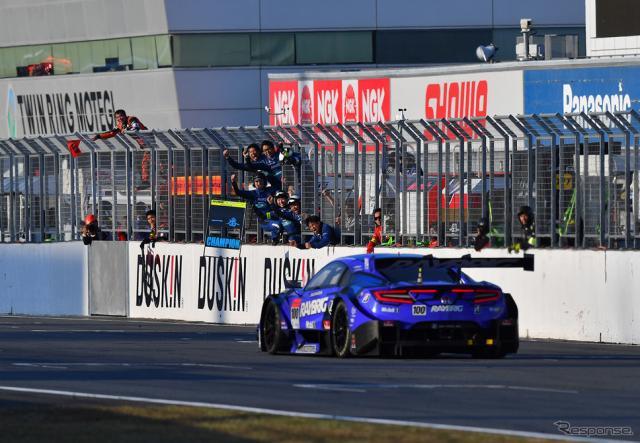 2018年のSUPER GT最終戦もてぎ、GT500王座に輝く#100 NSX(レースは3位)。《写真提供 GTA》